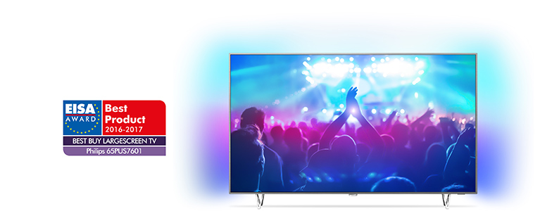 Philips 65PUS7601 – EISA Award For The European Best Buy Large Screen TV 2016-2017