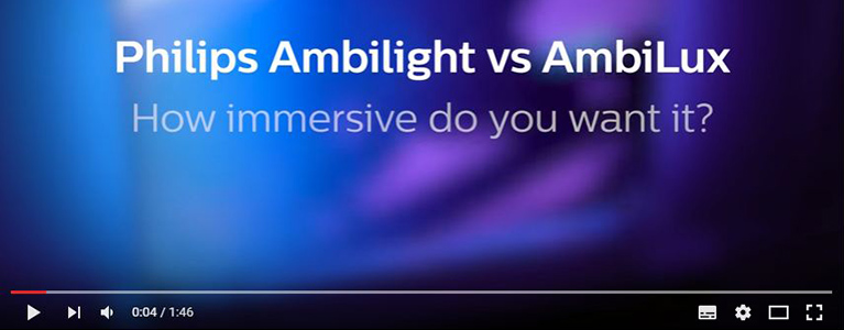 Philips TV – Ambilight Vs. AmbiLux: How Immersive Do You Want It? – Video